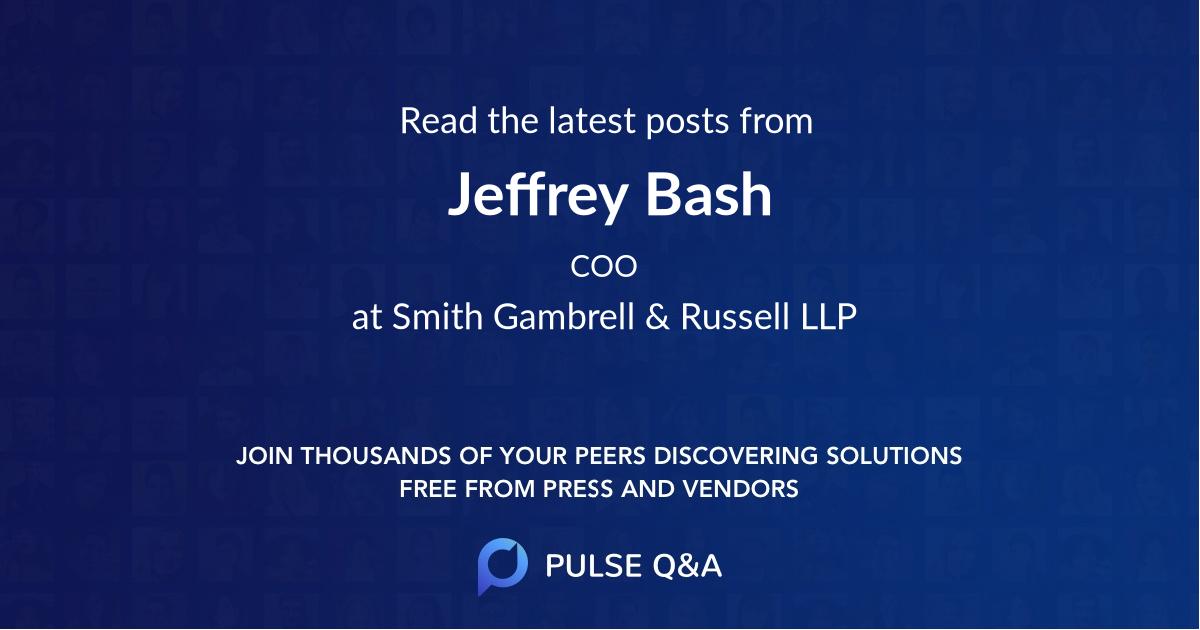 Jeffrey Bash