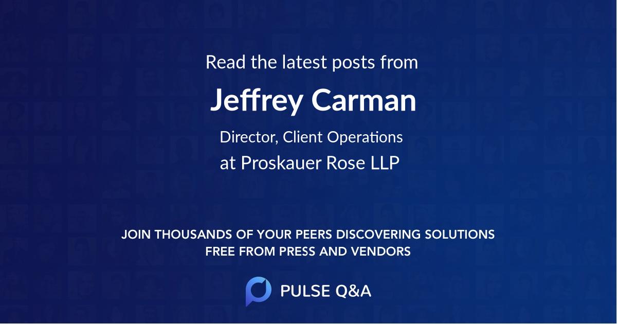 Jeffrey Carman