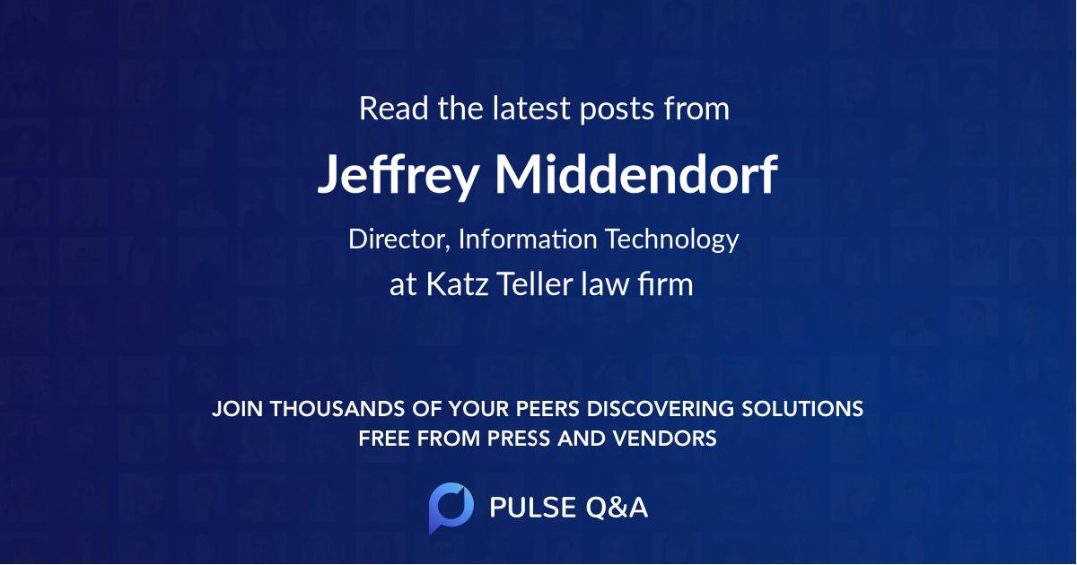 Jeffrey Middendorf
