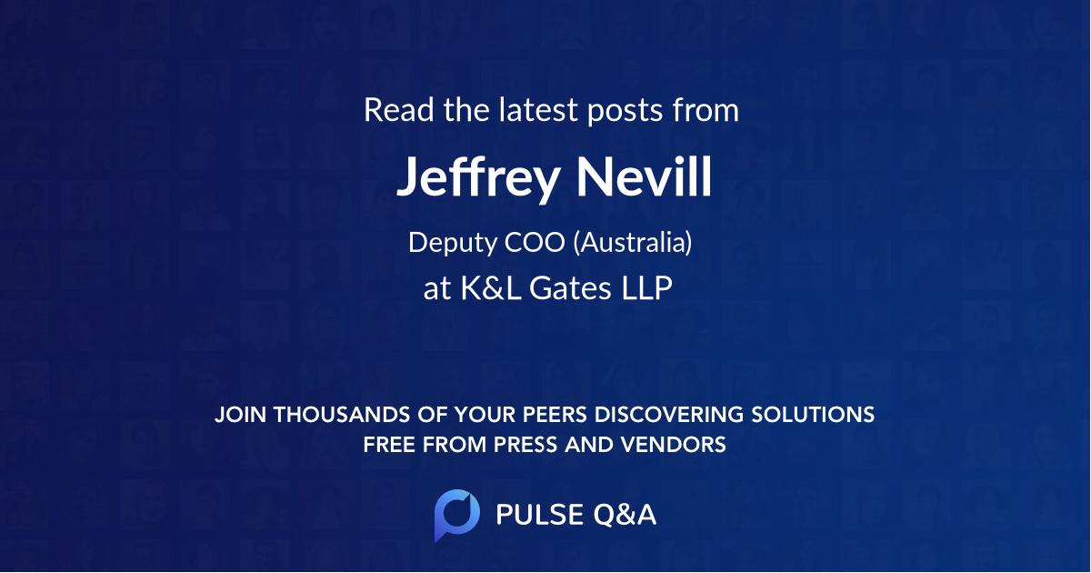 Jeffrey Nevill
