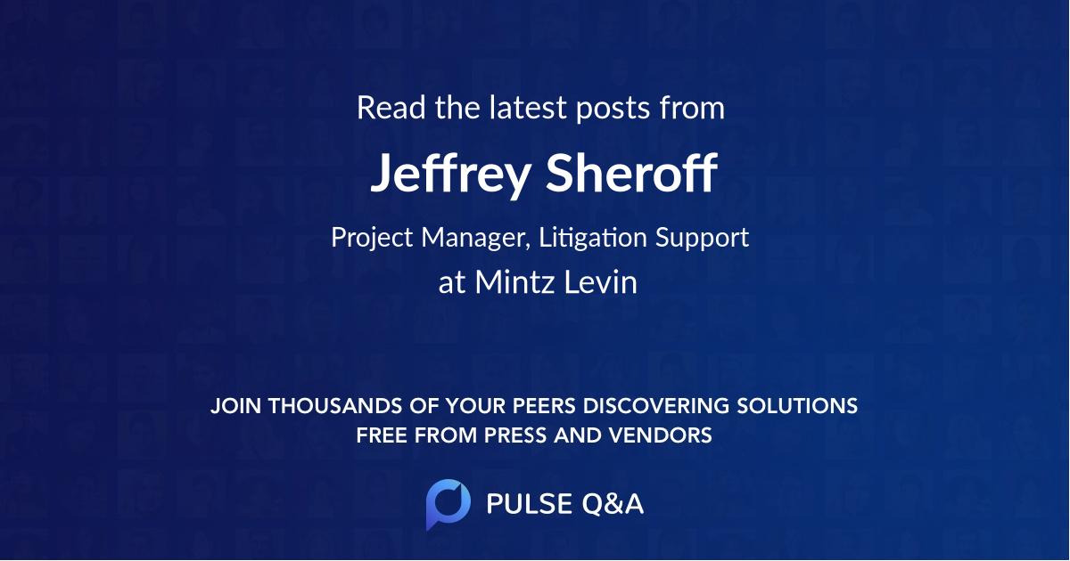 Jeffrey Sheroff