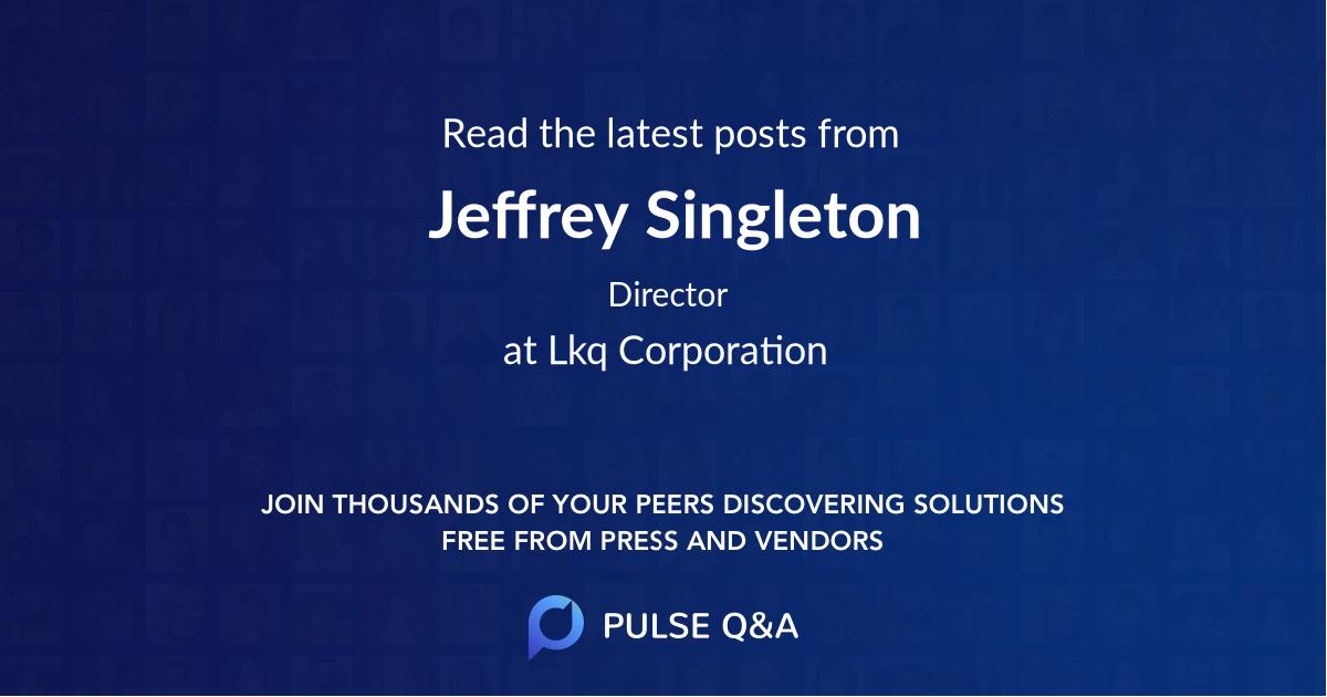 Jeffrey Singleton