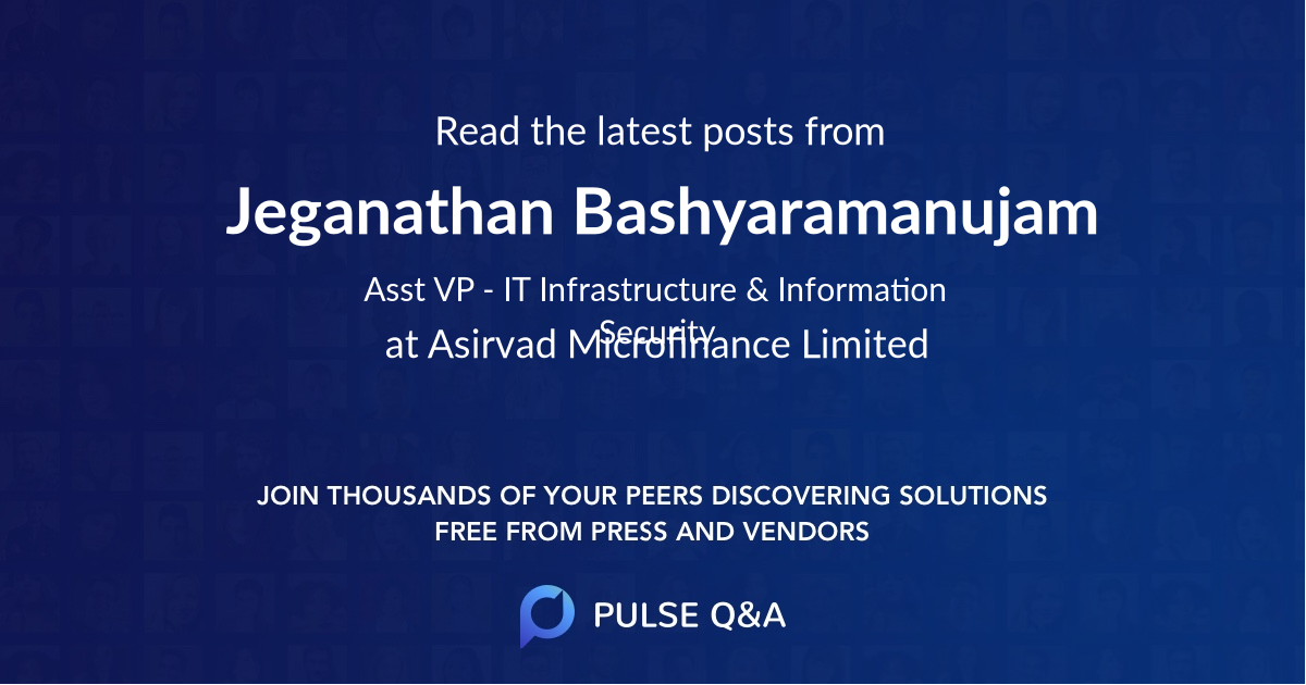Jeganathan Bashyaramanujam