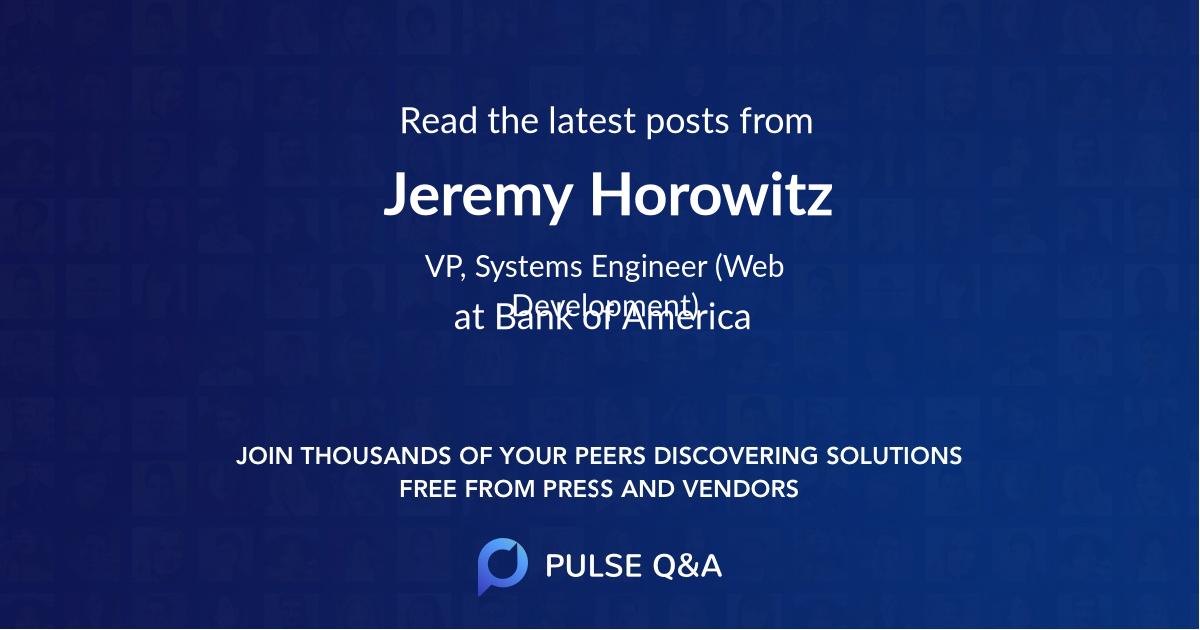 Jeremy Horowitz