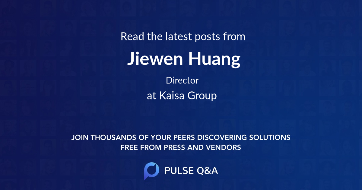 Jiewen Huang