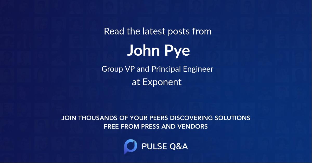 John Pye