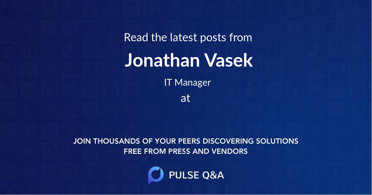 Jonathan Vasek