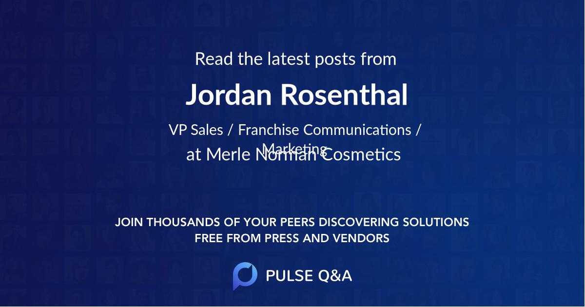 Jordan Rosenthal
