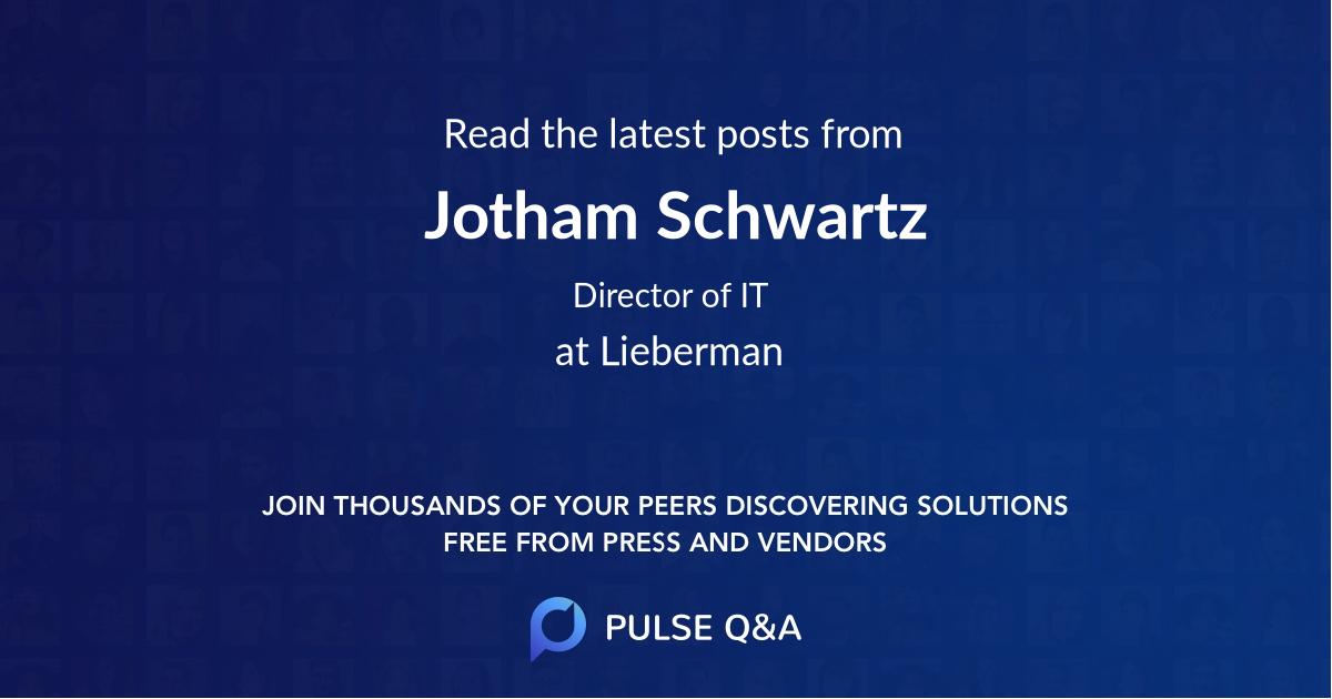 Jotham Schwartz