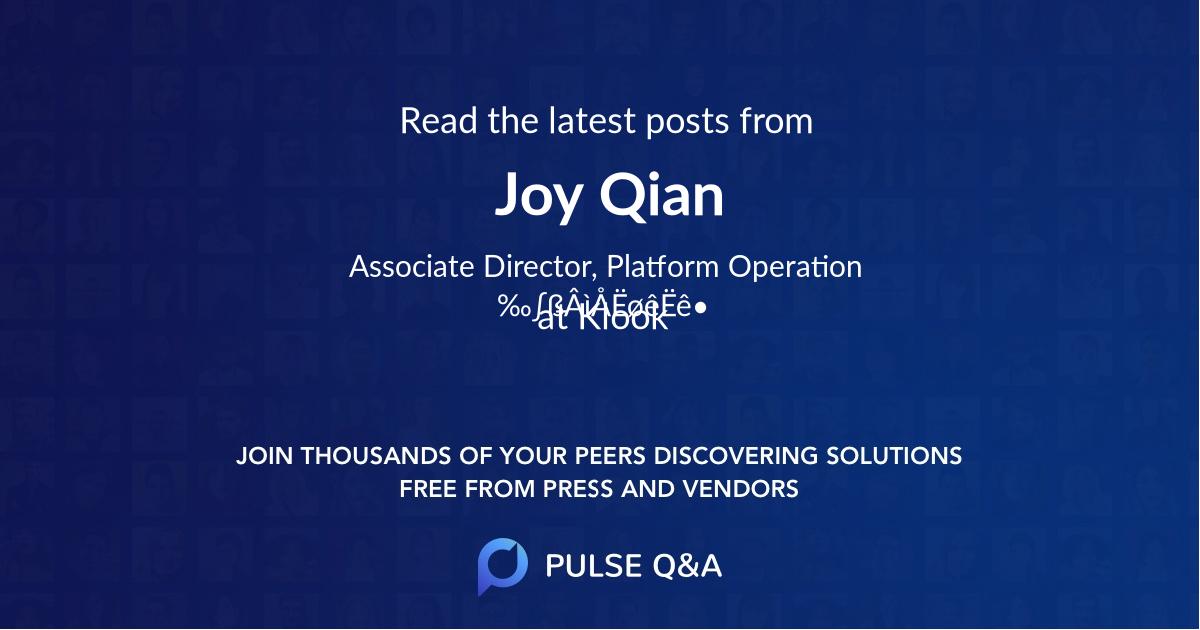 Joy Qian