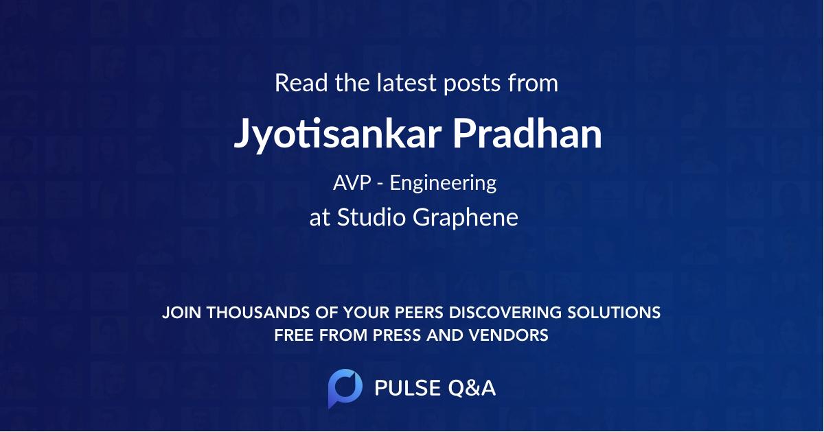 Jyotisankar Pradhan