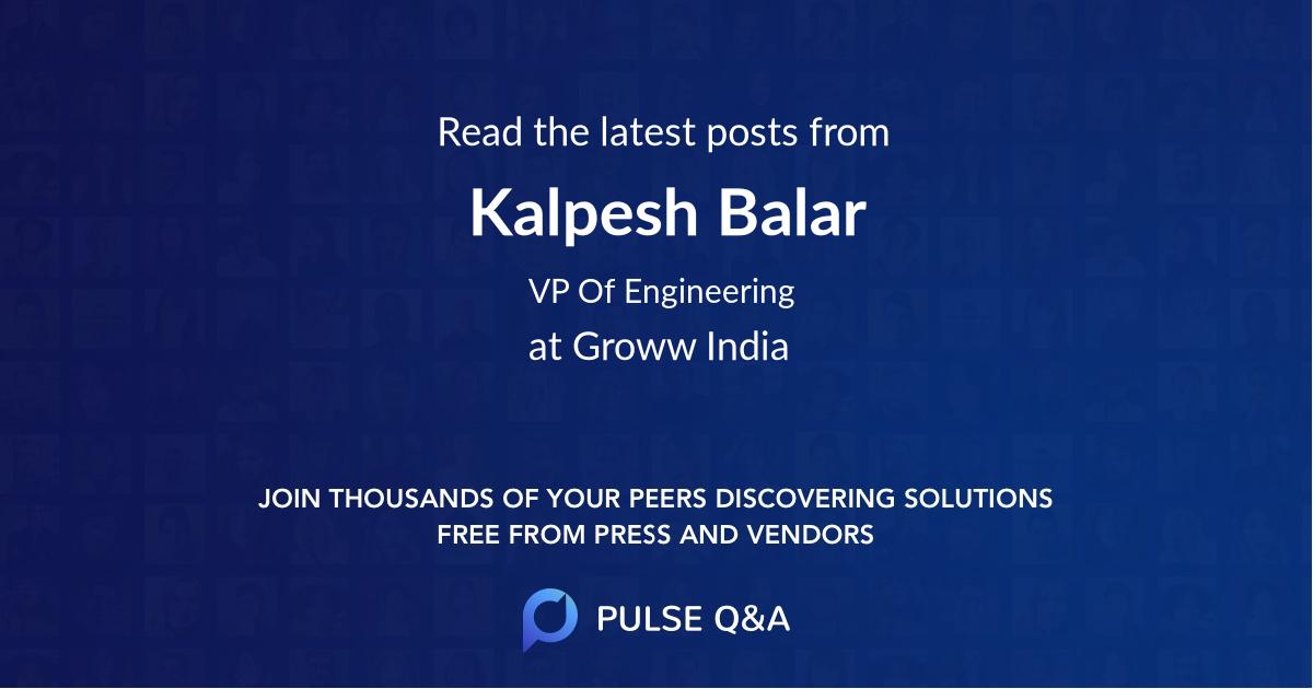 Kalpesh Balar
