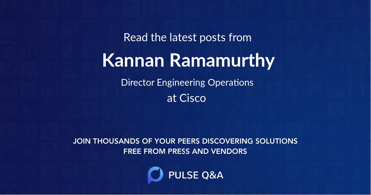 Kannan Ramamurthy