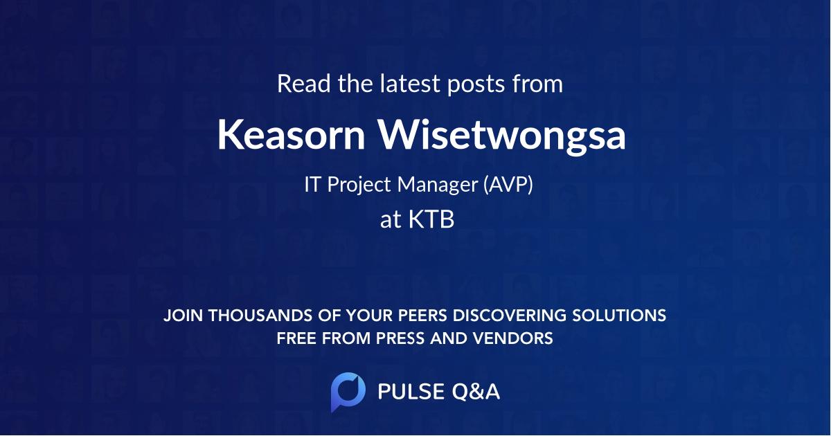 Keasorn Wisetwongsa