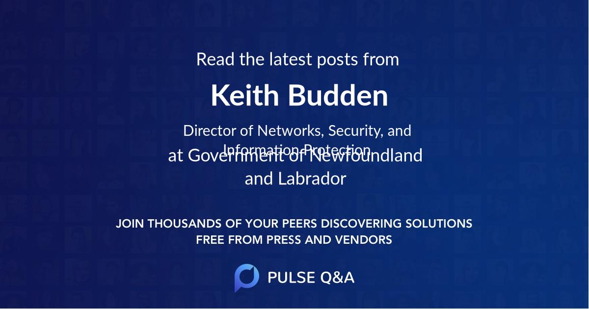 Keith Budden