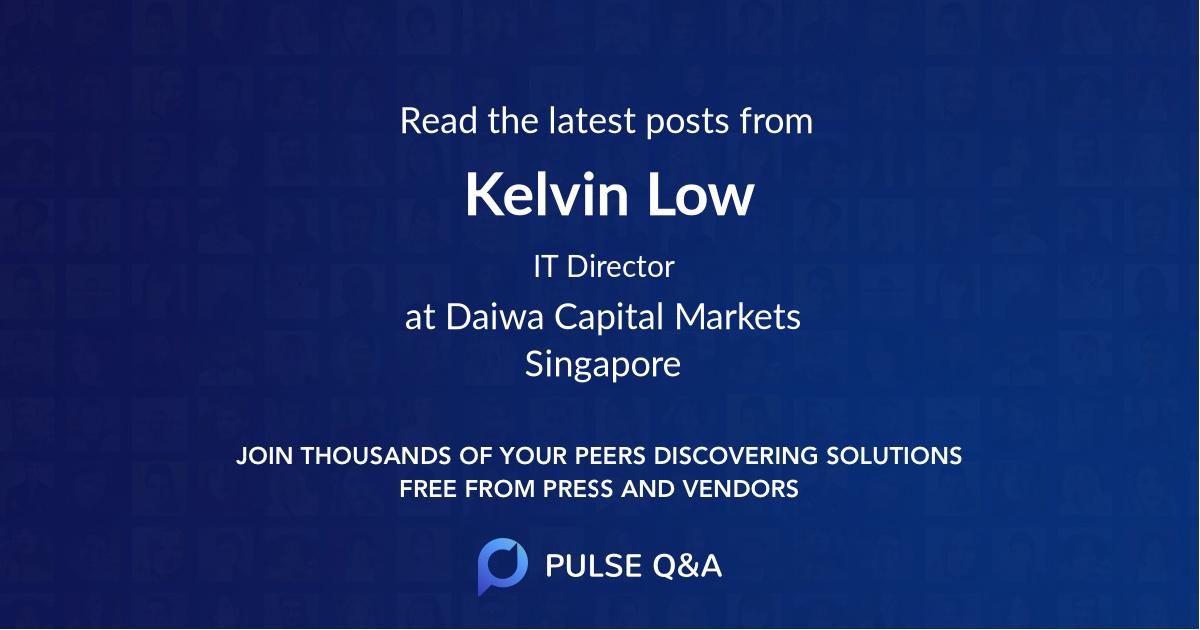 Kelvin Low