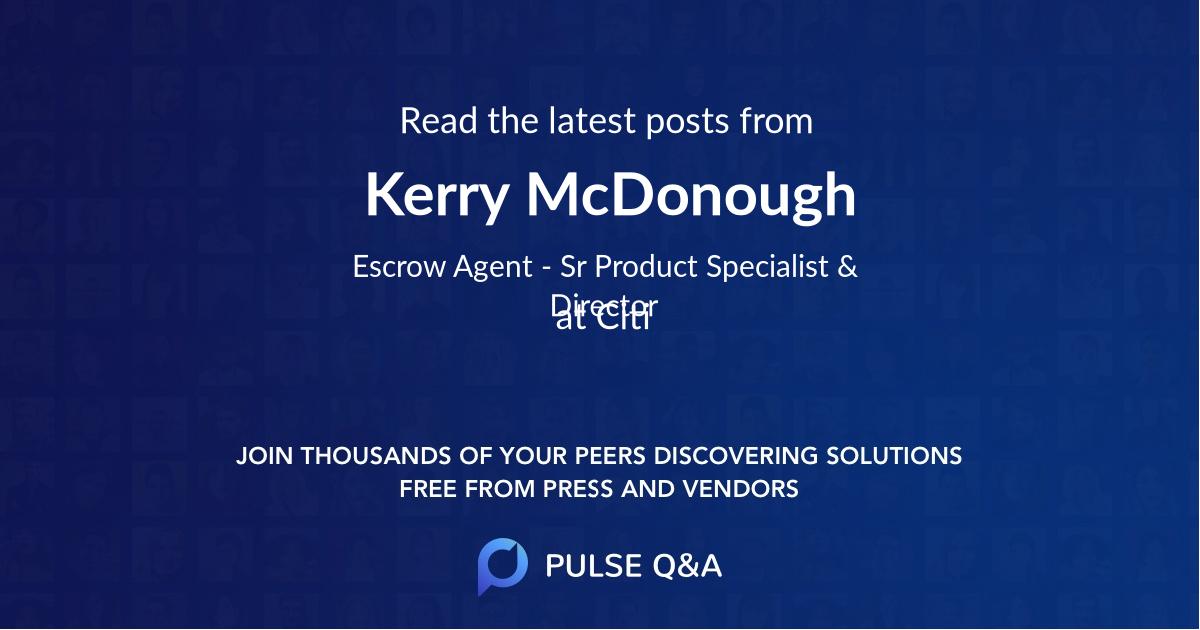 Kerry McDonough