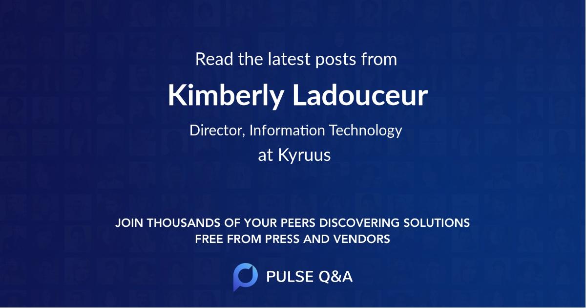 Kimberly Ladouceur