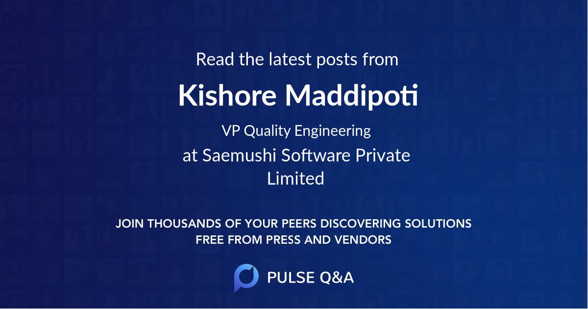 Kishore Maddipoti