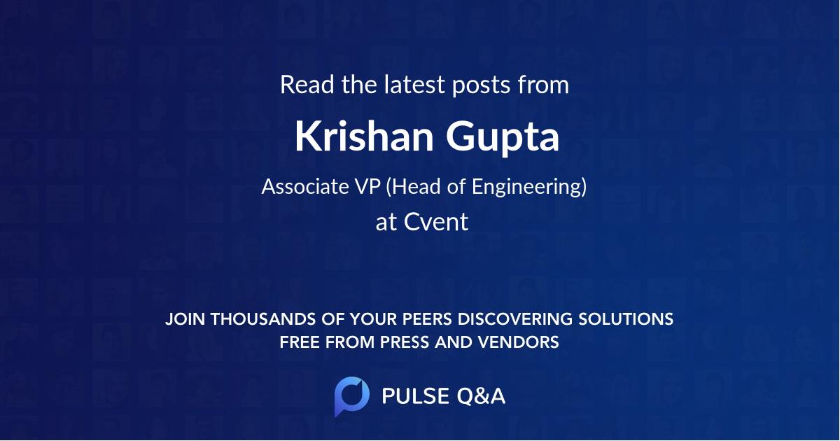 Krishan Gupta