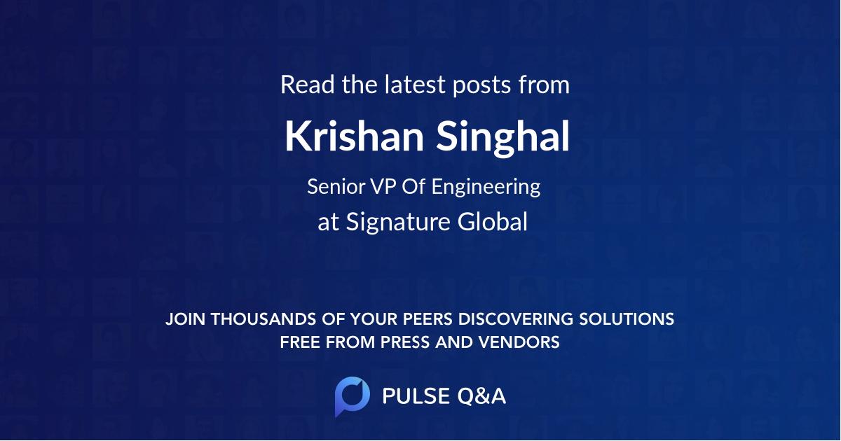 Krishan Singhal