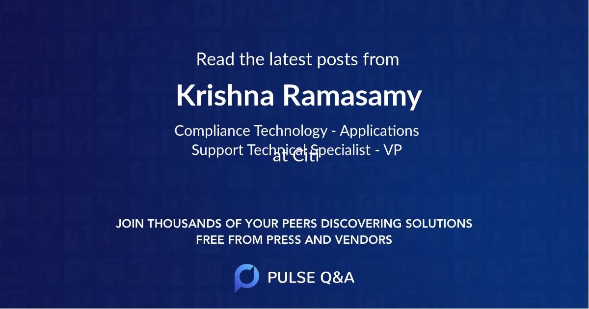 Krishna Ramasamy