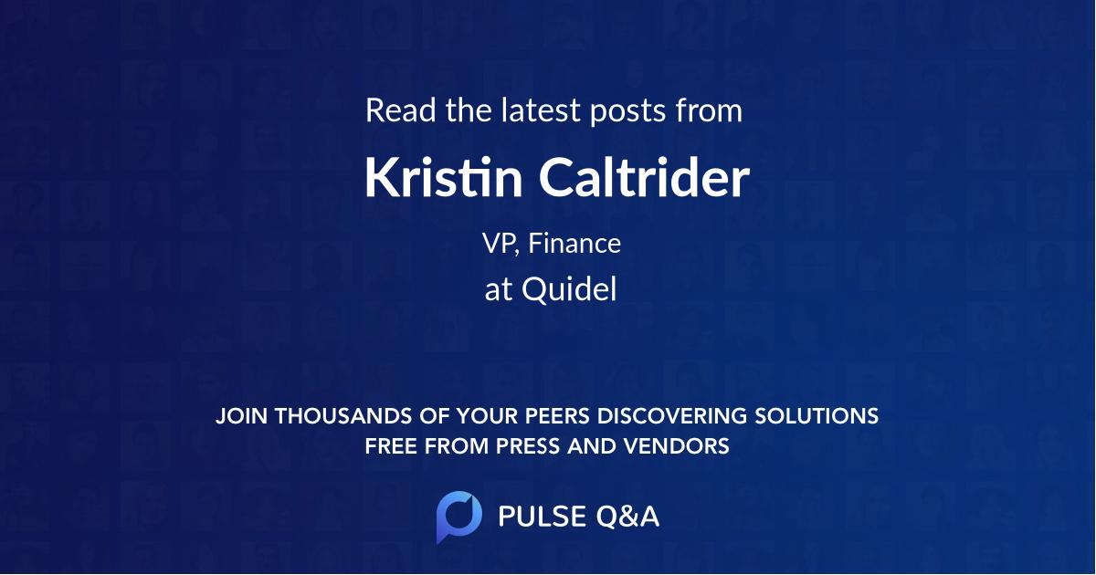 Kristin Caltrider