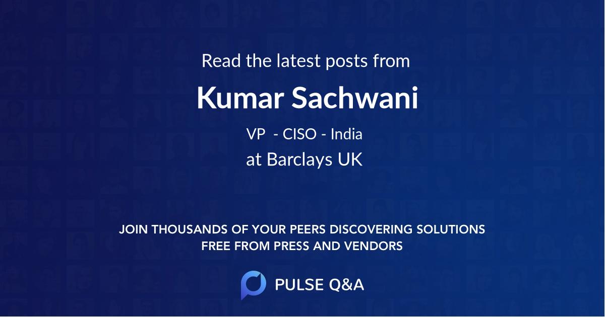 Kumar Sachwani