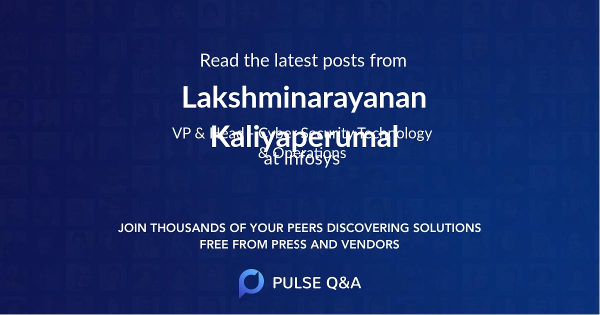 Lakshminarayanan Kaliyaperumal