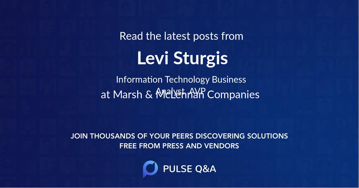 Levi Sturgis