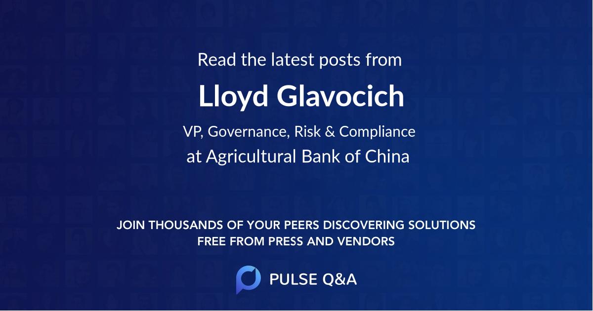 Lloyd Glavocich