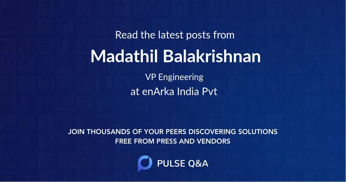 Madathil Balakrishnan