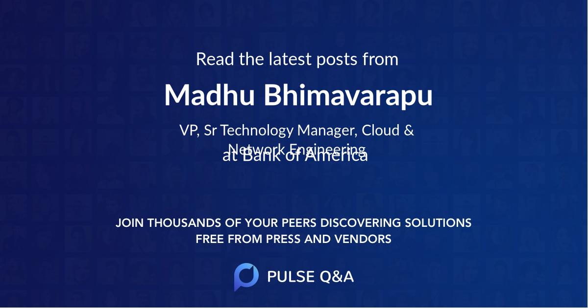 Madhu Bhimavarapu