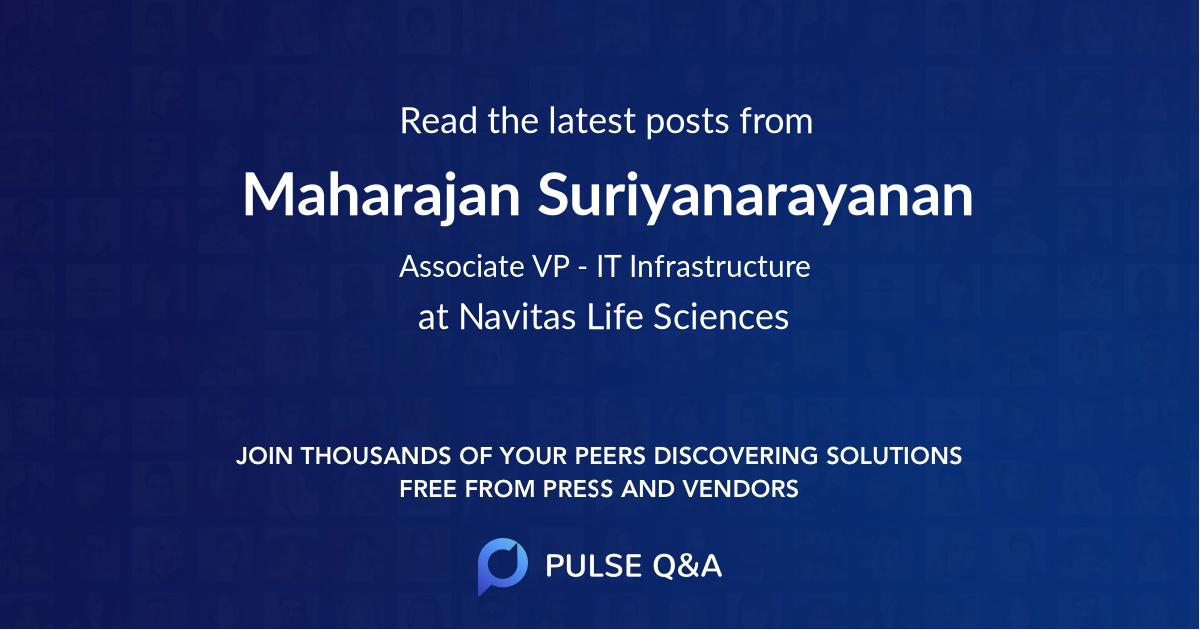 Maharajan Suriyanarayanan