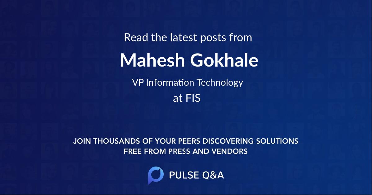 Mahesh Gokhale