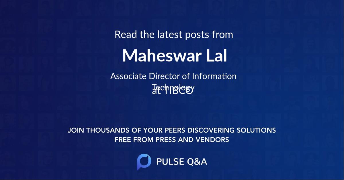 Maheswar Lal