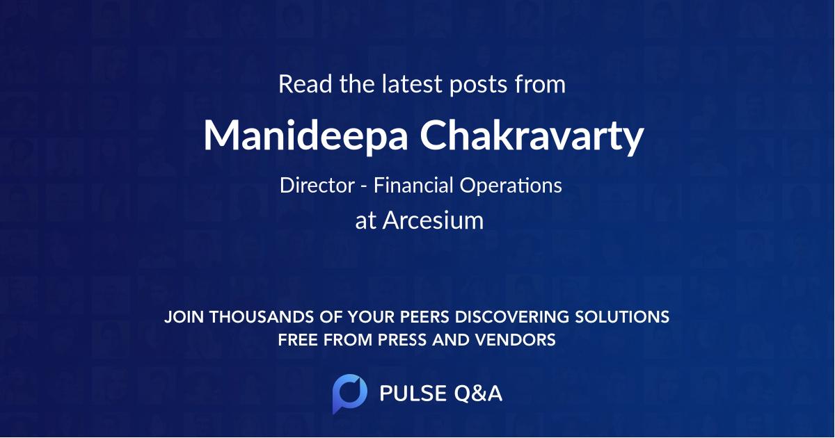Manideepa Chakravarty