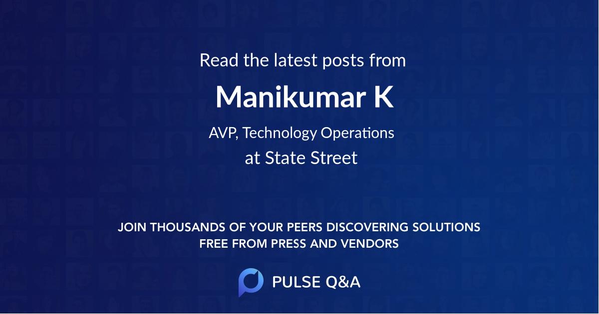 Manikumar K