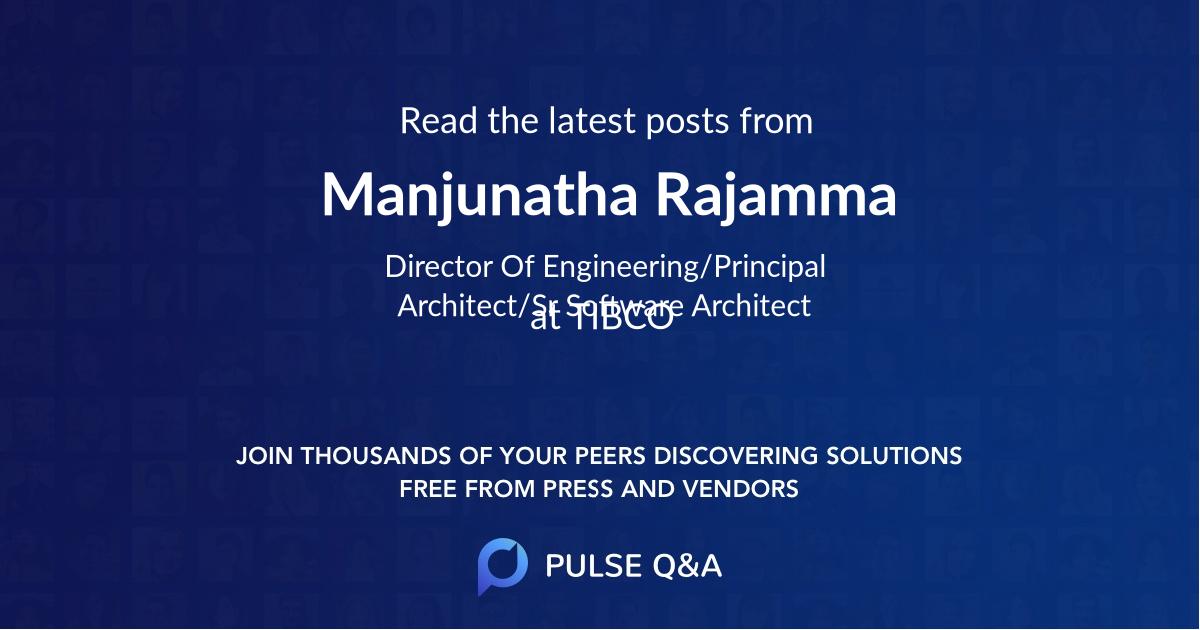 Manjunatha Rajamma