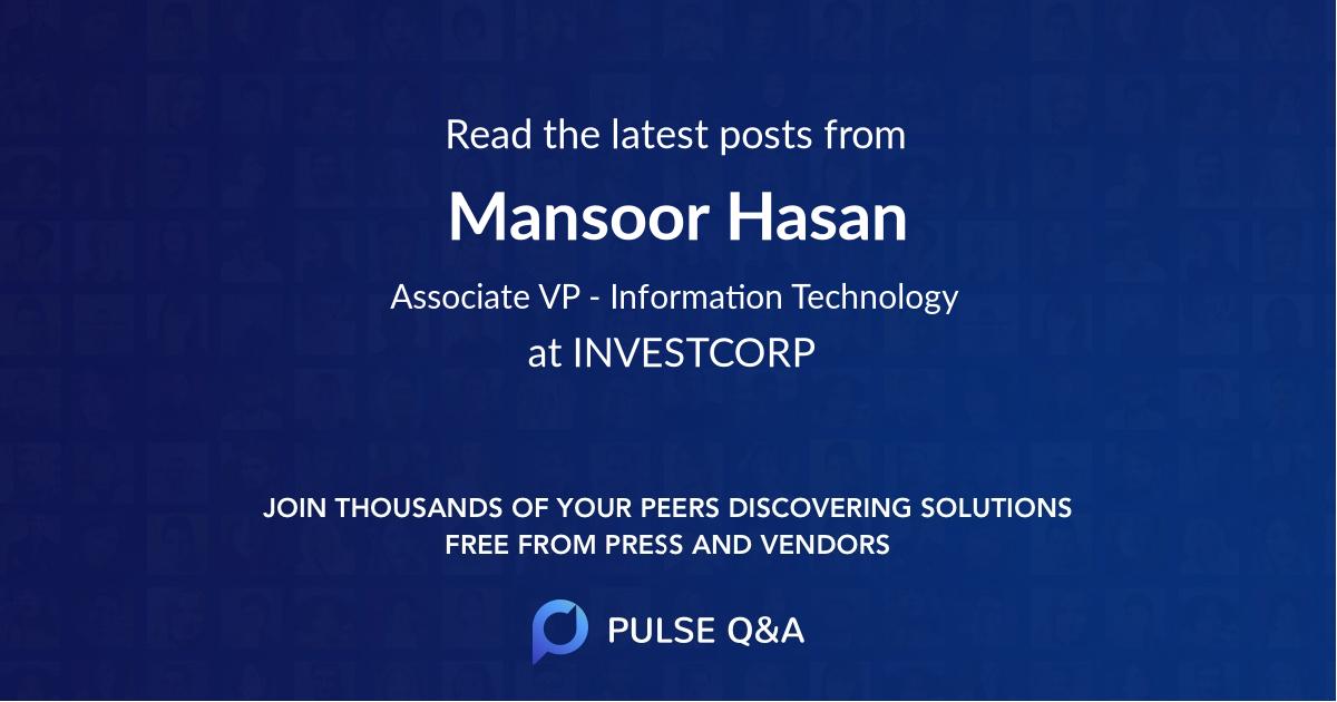 Mansoor Hasan