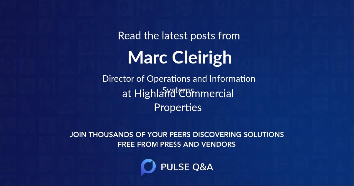 Marc Cleirigh