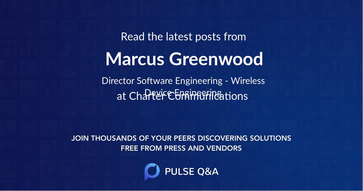 Marcus Greenwood