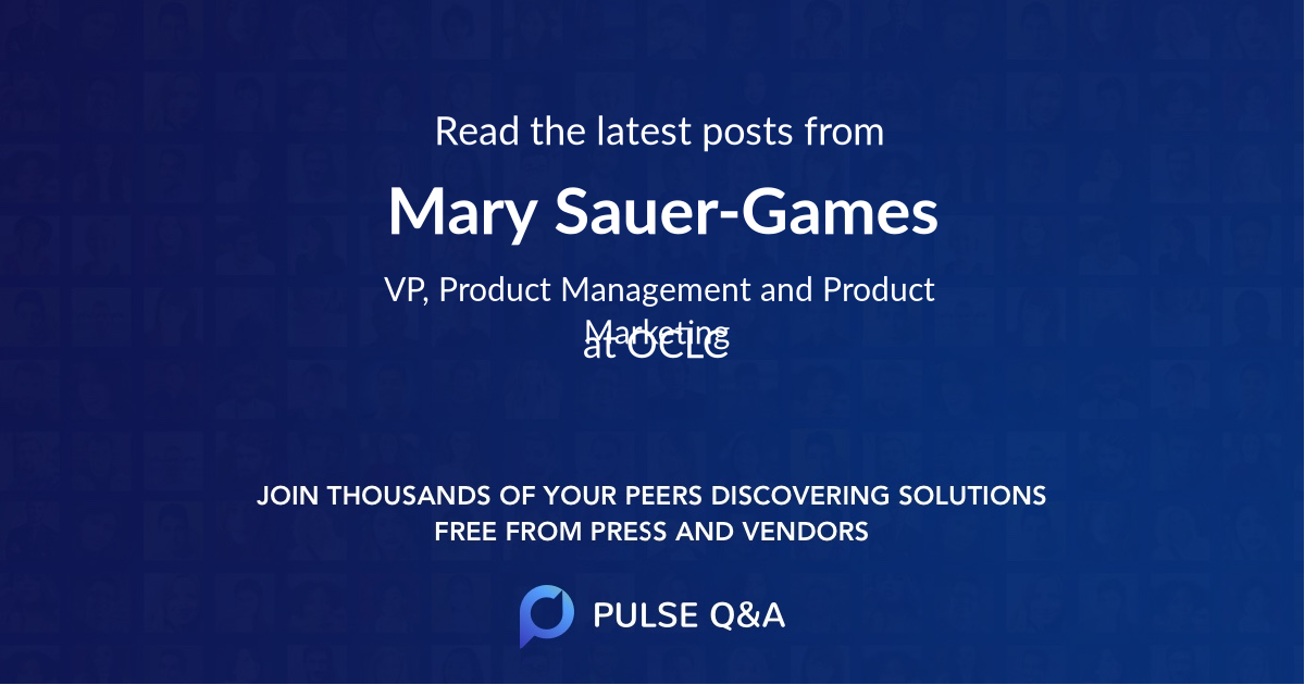 Mary Sauer-Games
