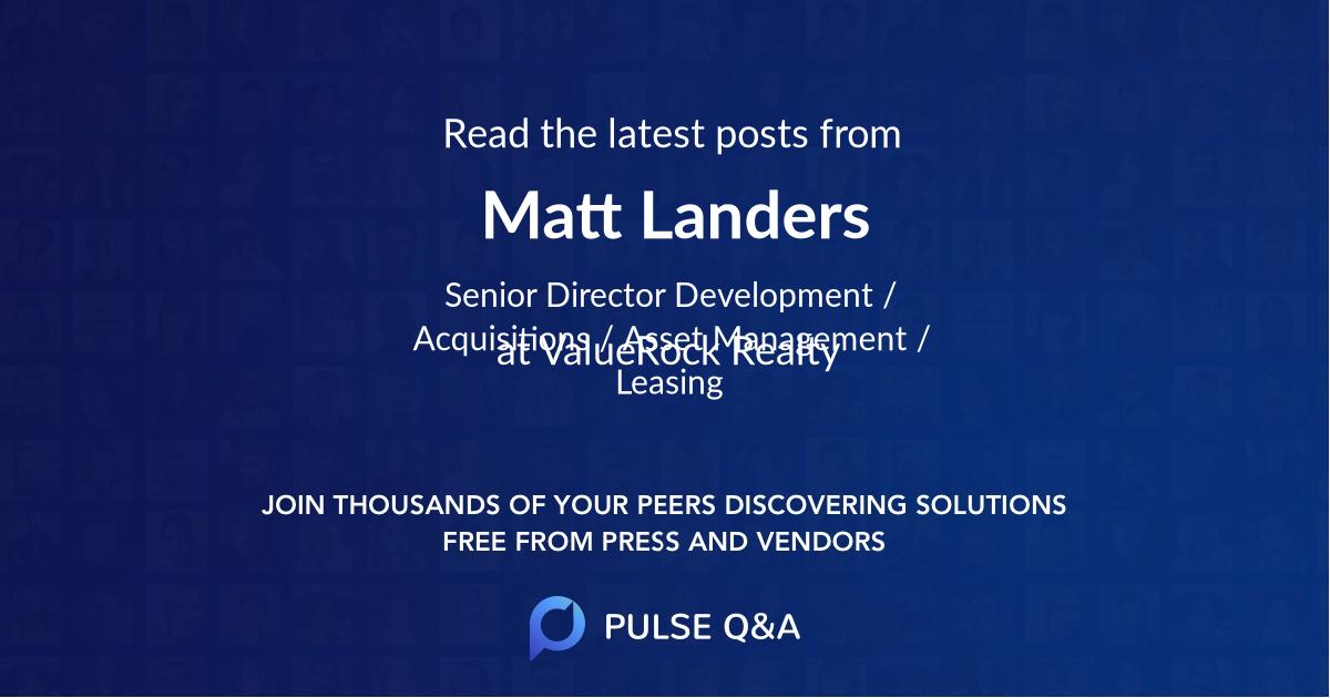 Matt Landers