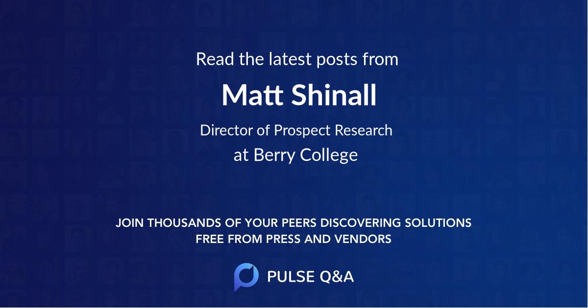 Matt Shinall