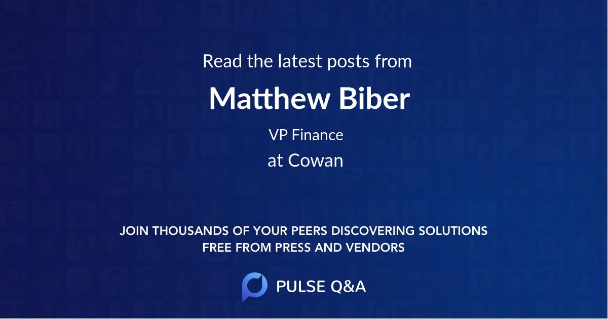 Matthew Biber