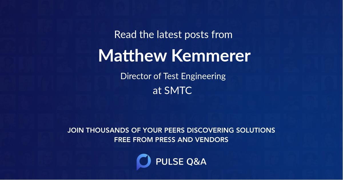 Matthew Kemmerer