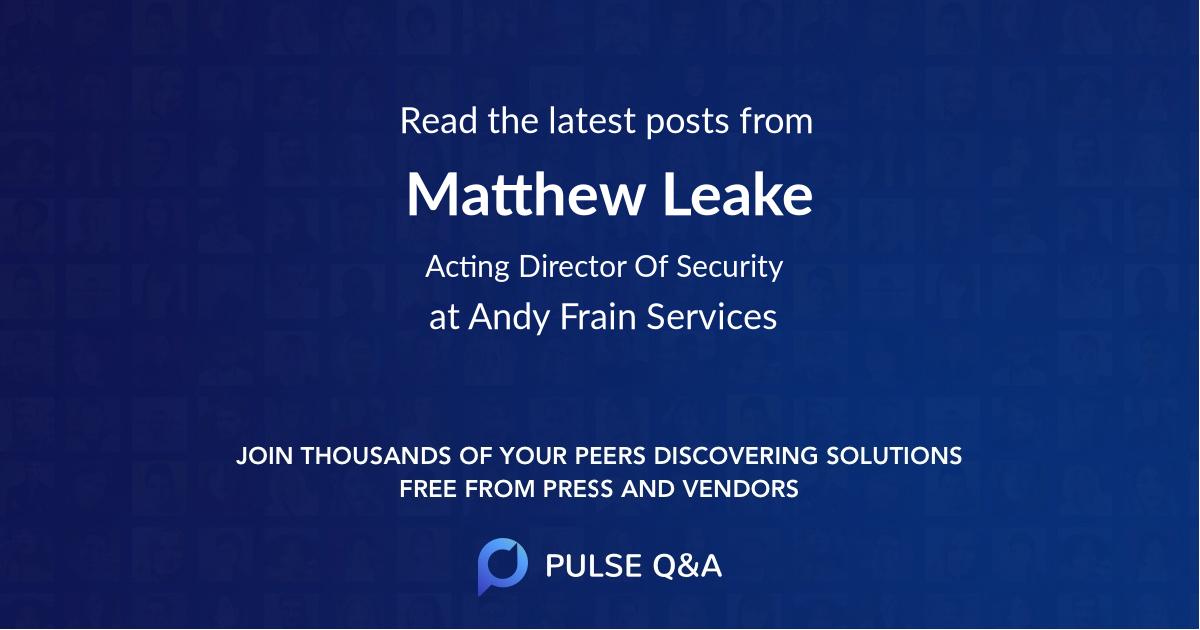 Matthew Leake