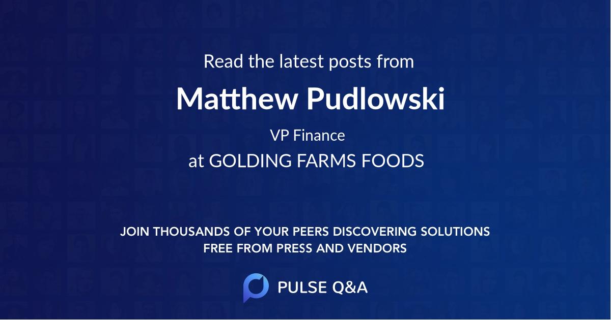 Matthew Pudlowski