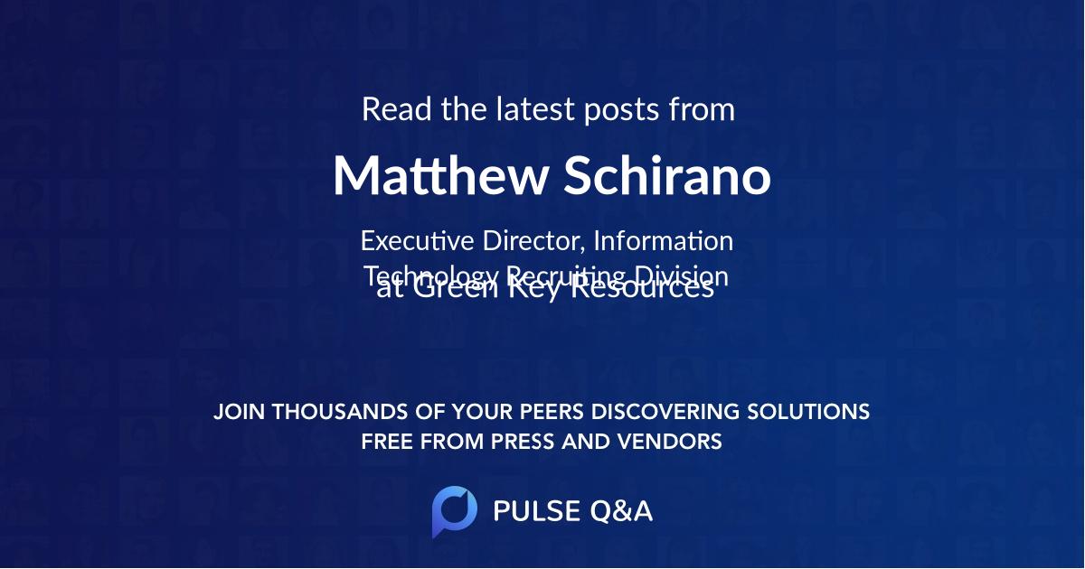 Matthew Schirano